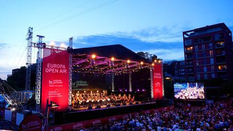 Das hr-Sinfonieorchester beim Europa Open Air 2017