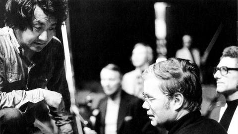 Dirigent Hiroyuki Iwaki und  Bariton Dietrich Fischer-Dieskau
