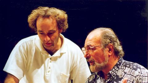 Marcello Viotti und  Renato Bruson besprechen Partitur