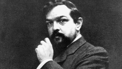 Zeitgenössisches Porträt des französischen Komponisten Claude Debussy (1861-1918)